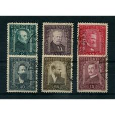 AUSTRIA 1932 SERIE COMPLETA YVERT 420/5  USADA ES MUY RARA 320  EUROS