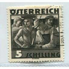 AUSTRIA 1936 Yv. 483 ESTAMPILLA USADA DE LUJO 65 Euros