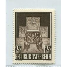 AUSTRIA 1956 ESTAMPILLA  YVERT 858 NUEVA MINT € 20