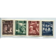 AUSTRIA 1951 SERIE COMPLETA YVERT 794/7 NUEVA MINT HERMOSA € 90