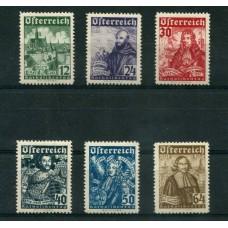 AUSTRIA 1933 Yv. 431/6 SERIE COMPLETA NUEVA 240 Euros