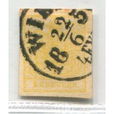 AUSTRIA 1850  YVERT 1 MAGNIFICO EJEMPLAR DE LUJO 150 Euros
