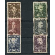 AUSTRIA 1935 SERIE COMPLETA YVERT 471/6 NUEVA HERMOSA 105 EUROS