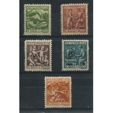 AUSTRIA 1924 SERIE COMPLETA YVERT 326/30  NUEVA  45 EUROS