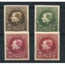 BELGICA 1929 Yv. 289/92 SERIE COMPLETA DE ESTAMPILLAS NUEVAS CON GOMA DE MUY BUENA CALIDAD 220 EUROS