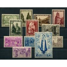 BELGICA 1933 Yv. 363/74 SERIE COMPLETA DE ESTAMPILLAS NUEVAS CON GOMA, LA SERIE ORVAL MUY RARA 950 EUROS