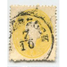 AUSTRIA 1861 YVERT 17 ESTAMPILLA USADA 45 EUROS