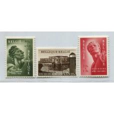 BELGICA 1954 Yv. 943/5 SERIE COMPLETA DE ESTAMPILLAS NUEVAS CON GOMA 62,50 EUROS