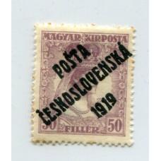 CHECOSLOVAQUIA 1919 Yv. 099 NUEVA CON GOMA 130 Euros