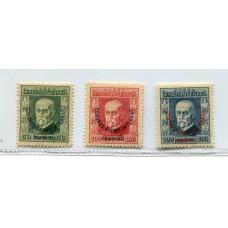 CHECOSLOVAQUIA 1925 Yv. 203/5 RARA SERIE COMPLETA OLIMPIADAS NUEVA CON GOMA DEPORTES 185 Euros