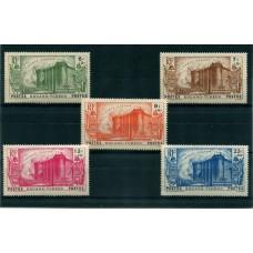 COLONIAS FRANCESAS KOUANG-TCHEOU CHINA 1939 Yv. 120/4 SERIE COMPLETA DE ESTAMPILLAS MINT ( EL PRIMER SELLO MINIMA ADHERENCIA) 50 EUROS RARA