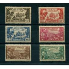 COLONIAS FRANCESAS GUYANA 1935 Yv. 137/42 SERIE COMPLETA DE ESTAMPILLAS NUEVAS CON GOMA 53 EUROS