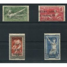 COLONIAS FRANCESAS GRAND LIBAN 1924 SERIE COMPLETA DE ESTAMPILLAS NUEVAS CON GOMA MUY BUENA CALIDAD DEPORTES OLIMPICOS 120 EUROS