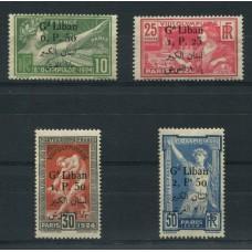 COLONIAS FRANCESAS GRAND LIBAN 1924 SERIE COMPLETA DE ESTAMPILLAS NUEVAS CON GOMA MUY BUENA CALIDAD DEPORTES OLIMPICOS 140 EUROS