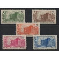 COLONIAS FRANCESAS MAURITANIA 1939 Yv. 100/49 SERIE COMPLETA DE ESTAMPILLAS NUEVAS CON GOMA 45 EUROS