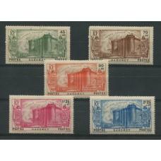COLONIAS FRANCESAS DAHOMEY 1939 Yv. 115/9 SERIE COMPLETA DE ESTAMPILLAS NUEVAS CON GOMA 42,50 EUROS