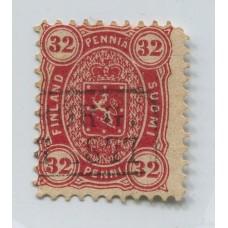 FINLANDIA 1875 Yv. 20 ESTAMPILLA USADA 45 Euros