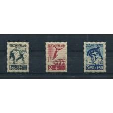 FINLANDIA 1938 Yv. 200/2 SERIE COMPLETA DE ESTAMPILLAS NUEVAS CON GOMA, DEPORTES