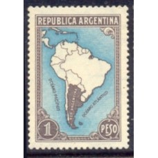 ARGENTINA 1935 GJ 760 PE. 380 MAPA CON LIMITE NUEVA MINT LUJO U$ 32