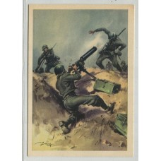 ITALIA 1943 TARJETA POSTAL PATRIOTICA SEGUNDA GUERRA MUNDIAL