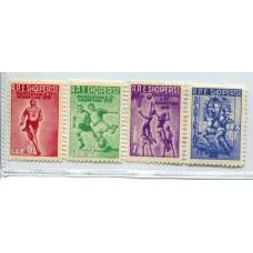 ALBANIA 1959 Yv. 507/10 SERIE COMPLETA DE ESTAMPILLAS NUEVAS MINT DEPORTES FUTBOL 15 EUROS