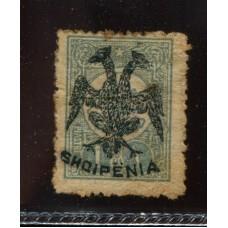 ALBANIA 1913 Yv. 07 ESTAMPILLA NUEVA CON GOMA, RARA 270 EUROS