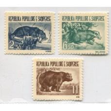 ALBANIA 1961 Yv. 549/51 SERIE COMPLETA DE ESTAMPILLAS NUEVAS MINT FAUNA