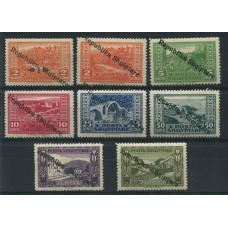 ALBANIA 1925 Yv. 151/8 SERIE COMPLETA DE ESTAMPILLAS NUEVAS MINT 39 EUROS