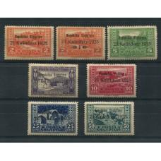 ALBANIA 1925 Yv. 159/65 SERIE COMPLETA DE ESTAMPILLAS NUEVAS 33 EUROS