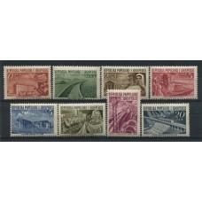 ALBANIA 1953 Yv. 454/61 SERIE COMPLETA DE ESTAMPILLAS NUEVAS