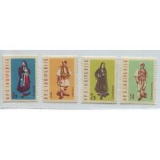 ALBANIA 1962 Yv. 593/6 SERIE COMPLETA DE ESTAMPILLAS NUEVAS MINT