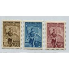 ALBANIA 1955 Yv. 398/400 SERIE COMPLETA DE ESTAMPILLAS NUEVAS MINT
