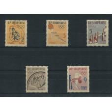 ALBANIA 1964 Yv. 626/30 SERIE COMPLETA DE ESTAMPILLAS NUEVAS CON GOMA