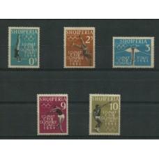 ALBANIA 1964 Yv. 576/80 SERIE COMPLETA DE ESTAMPILLAS NUEVAS CON GOMA