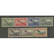 ALBANIA 1927 AEREO Yv. 8/14 SERIE COMPLETA DE ESTAMPILLAS NUEVAS AVIONES AVES 70 EUROS